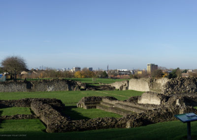 Lesnes Abbey towards Docklands, Abbey Wood South Thamesmead